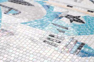 세라믹 현대 디자인 파란 색깔 또는 벽과 지면을%s 유리 또는 금속 모자이크