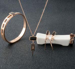 Moda jóias de Aço Inoxidável Colar de diamantes jóias definido