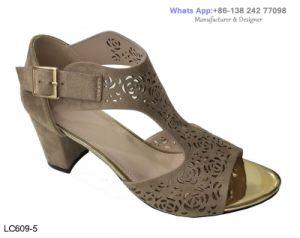 Womens haut talon bloc boucle Strappy chaussures sandales à la cheville en daim