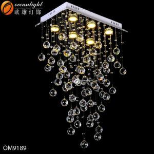 Современные LED стекла хрустальная люстра освещение для отеля, ресторан или домашних