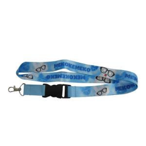 カスタム工場安いファッション小物の電話IDの帯出登録者USBのブランクポリエステルによって編まれる締縄(011)