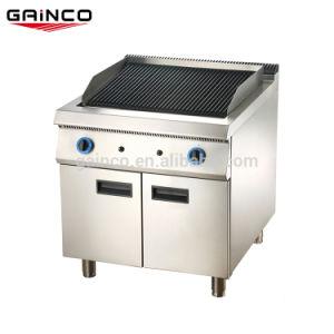 Comercial profesional equipo de cocina barbacoa Grill de Gas de rocas de lava con el gabinete