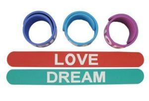 ファン(046)のためのPVCギフトのLove&Dreamのロゴのリスト・ストラップ