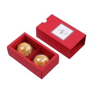 Papier couché professionnel couleur rouge forme tiroir Boîte Cadeau Chocolat