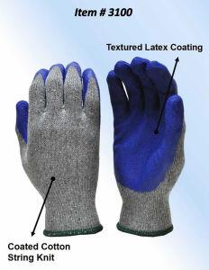 I guanti di funzionamento bassi del poliestere industriale, lattice hanno ricoperto la pinsa liscia