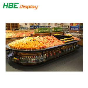 Puder-überzogener Supermarkt-Gemüsebildschirmanzeige-Zahnstange