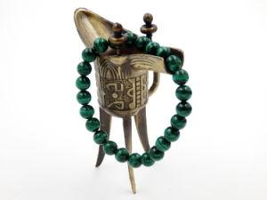 De unisex- Kostbare Parels van de Armband van de Halfedelsteen van het Malachiet om Decoratie van de Juwelen van 610mm de Natuurlijke