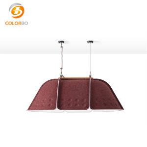 China-Lieferanten prägten Entwurfs-akustisches Panel-Ausgangsdekor-Großverkauf-dunkelgrauen doppelten beendeten kundenspezifischen Lampen-Farbton