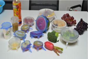 8 tailles souple/réutilisables/Silicone de qualité alimentaire s'étirer les couvercles d'aspiration