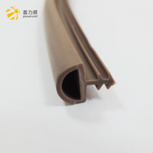 La plastica del PVC si è sporta striscia di legno del sigillo alla porta della guarnizione di gomma del Brown