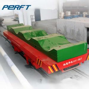 Il trasferimento di alluminio della bobina da 75 tonnellate ha montato sulla ferrovia