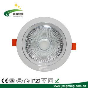 5W 7W 9W 12W 15W 20W 30W à intensité réglable encastré COB vers le bas la lumière de l'aluminium
