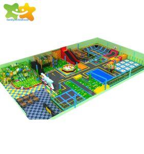 De in het groot Gebruikte Commerciële Trampoline van Bungee van de Speelplaats van de Baby van de Gymnastiek Volwassen Binnen