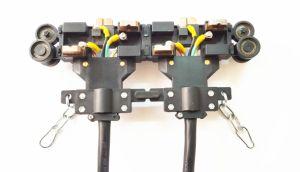 sbarra collettrice inclusa del carrello della guida di potere del sistema della barra del conduttore di 4p 80A