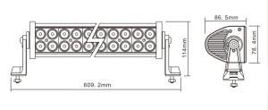 Super Bright 10-30V 120W LED Bar hors route 4X4 CREE LED Light Bar hors route Camion