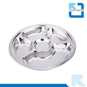 Diviseurs 28cm 5 desservant le bac avec compartiments plat en acier inoxydable