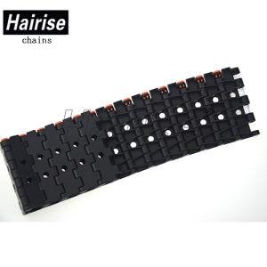 Dessus plat ISO noir Limited Comprimé modulaire en plastique de courroie du convoyeur
