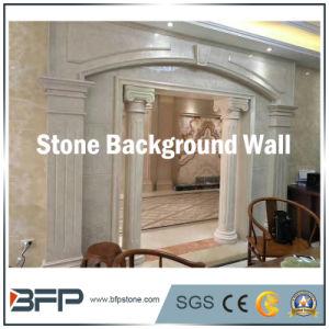 室内装飾のための自然な緑のオニックス大理石の背景の壁Deocration