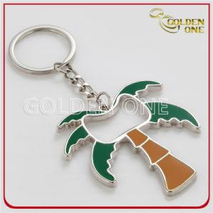 Apri di bottiglia del metallo di stile della palma di noce di cocco con l'anello chiave