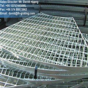 Anular Rejilla de acero galvanizado para la plataforma del piso y cubierta de la Trinchera