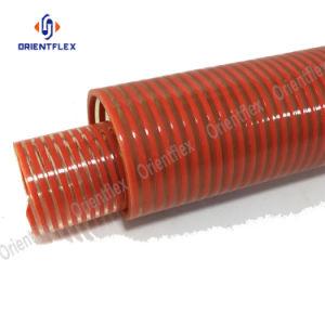 투명한 유연한 PVC 플라스틱 물결 모양 나선 흡입 출력 호스