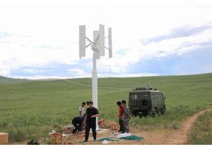 Turbina de vento vertical pequena sozinha da linha central da turbina 1500W de Maglev do carrinho