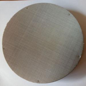 En acier inoxydable 316L poreux disque filtrant en métal fritté