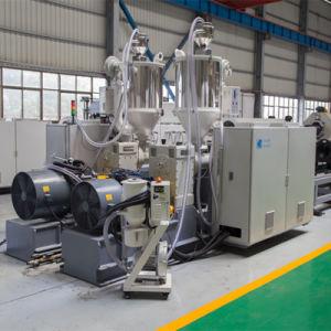 Pared doble de alta velocidad PE/PP tubo corrugado que hace la máquina