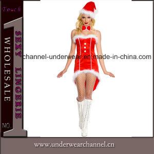 Venta caliente mujer sexy lencería trajes de fiesta de Navidad (TFQQ0964)