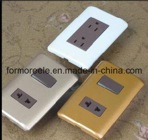 15D'UN ABS Brown en Amérique du Sud Venezuela 2 Prise électrique plat