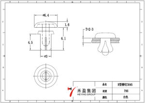 Rivet obligatoire en nylon de poussée de clips
