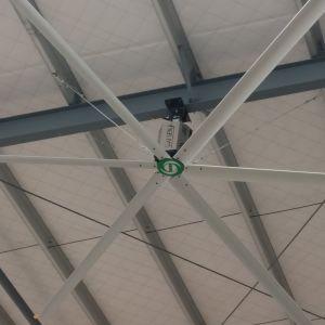 La grande entreprise industrielle Hvls ventilation moteur de ventilateur de plafond avec option de boîte de vitesses