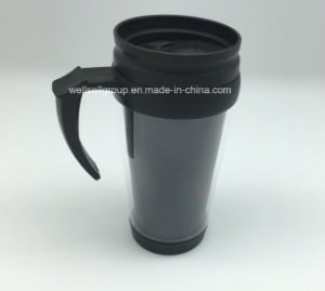 16 oz Double-Wall Mug automatique avec poignée en plastique (CPBZ-4004)
