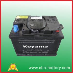 La norma DIN 55427 (12V 54Ah) libre de mantenimiento de automóviles a partir de la batería Alemán / Vehículo Europeo