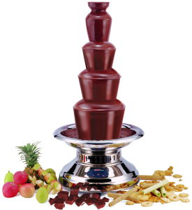 Fondue de chocolate Fountain com 5 níveis