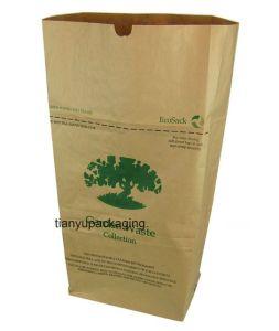 Sacchi di carta esterni dei rifiuti del foglio del sacchetto della carta kraft Dei rifiuti del foglio e dei rifiuti del prato inglese