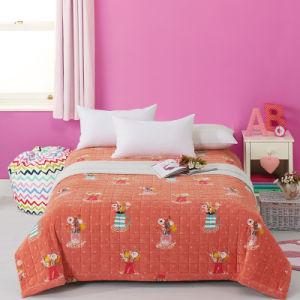 チェック模様の柔らかい固体赤いキルトにされたベッドのキルトベッドカバーのベッド・カバー