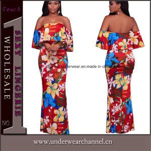Playa vestido largo mujer niña Flor de la moda de verano (TOSM Dressses7106)