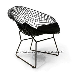 レプリカモダンダイニングレストランは、金属ワイヤーダイヤモンドの椅子をノックダウン