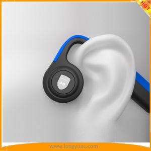 骨導のヘッドホーンBluetooth V4.2 Sweatproofはイヤホーンを遊ばす(濃紺)
