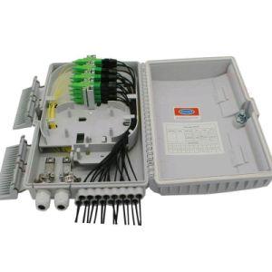 Cuadro de fibra óptica FTTH la caja de bornes PLC Box 16 núcleos
