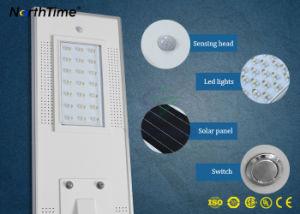 リチウム電池の太陽電池パネルが付いているオールインワンLEDの太陽街灯