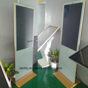 Affissione a cristalli liquidi di Dedi 55inch che si leva in piedi il chiosco dell'interno di tocco, visualizzazione di pubblicità di schermo di tocco dell'affissione a cristalli liquidi