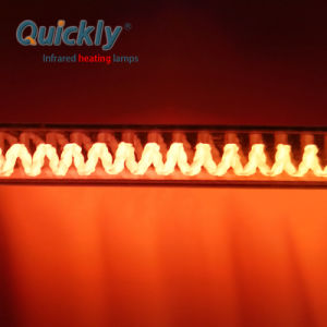 Lâmpada de aquecimento por infravermelhos de ouro de halogéneo para a indústria de calçado