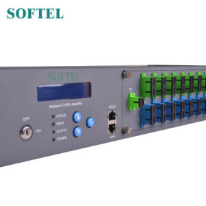 Porte ottiche di Pon dell'amplificatore 16 di CATV EDFA 1550nm con Wdm