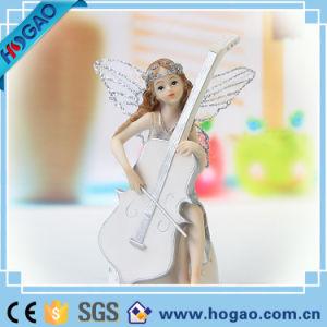 Het Ornament van de Engel van de fee met de Zilveren Decoratie van de Gift van Kerstmis van het Effect van het Blad
