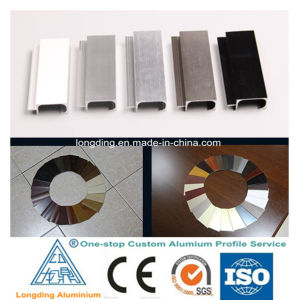 Perfil de aluminio para la decoración de aluminio, aluminio bordeando la línea