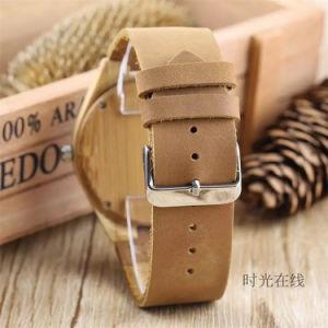 Los hombres de madera creativo Ver salvajes artesanales de madera de bambú de marcación Relojes de Pulsera Reloj de cuarzo 2018 macho horas de reloj de Madera -218