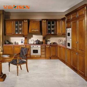 América Venda quente armário de cozinha sólidos de madeira fabricados na China