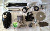 Cdh 2 Anfall-silberner motorisierter Fahrrad-Gas-Fahrrad-Motor-Installationssatz 66cc/80cc